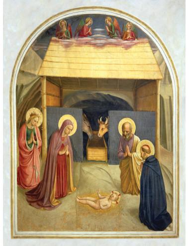 Julkort: Med helgonen i krubban (10-pack)